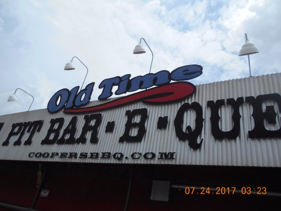 Llano, TX: Overhang sign on building as I was leaving.