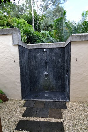 Lakaz Chamarel Exclusive Lodge: Douche exterieur