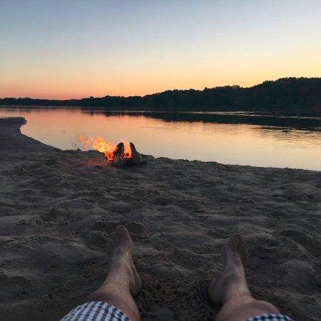 Boscobel, Висконсин: Camping on a sandbar