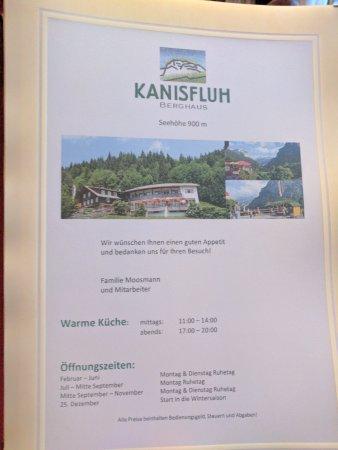 Schnepfau, Austria: Menu
