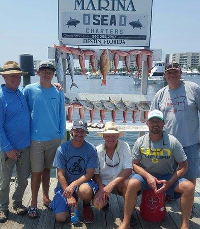 good job crew - Picture of O Sea D Fishing Charters, Destin