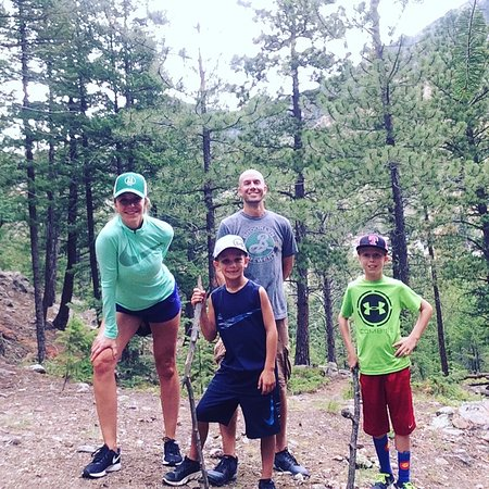 Family hike in the backyard of our glamp site picture of for Lawson adventure cabins