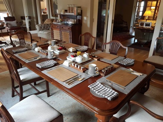 Somerset, UK: Breakfast Table