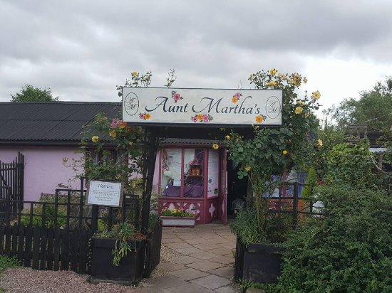 Drybrook, UK: The entrance to Aunt Martha's