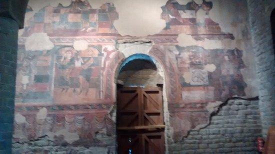 Vall de Boí, España: Frescos de la pared Sur de santa María de Taüll