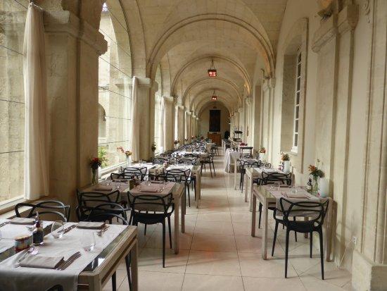 Hotel Cloitre Saint Louis Elegant Dining Area Serving Excellent Food