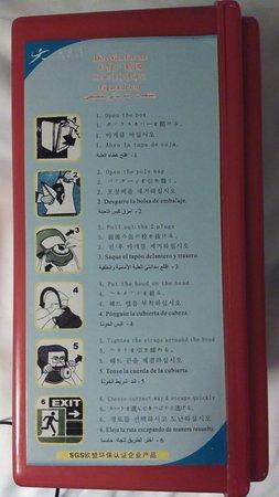 Wyndham Xian: ...con sus instrucciones multilingües