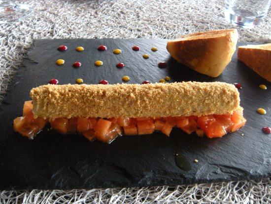 Le Carré : Foie gras et papaye