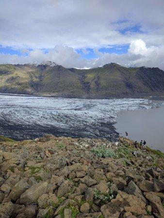 View of Skaftafellsjokull from up above