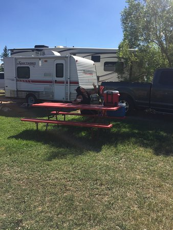 Lyman, WY: Camp site 5 for out 16 footer and truck