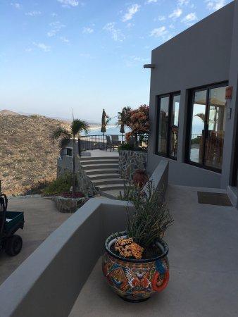 Arriba de la Roca: From Boca's private patio looking south toward Cabo San Lucas