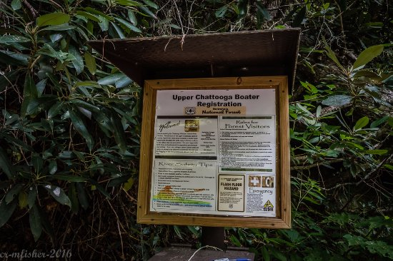 Cashiers, NC: Sign at Bull Run trail head