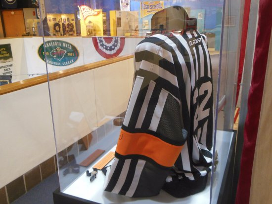 2a4155cc2 U.S. Hockey Hall of Fame  Paul Stewart s Referee Jersey. Minnesota Fighting  Saints   Hartford Whalers Jerseys