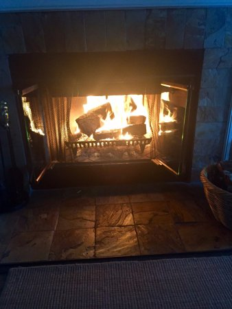 Albion, Kalifornien: Fireplace in our room - with firewood, starter and paper to get it started easy!