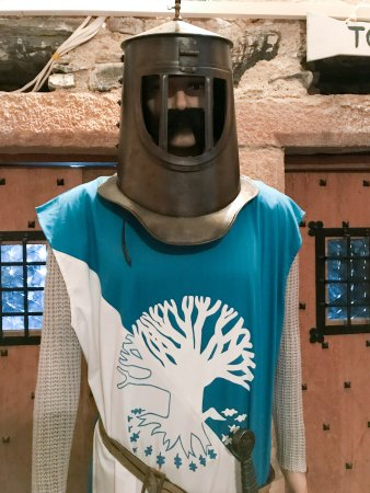 Appin, UK: Part of the Monty Python Holy Grail Exhibit at Castle Stalker