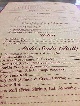 Dixon, CA: menu
