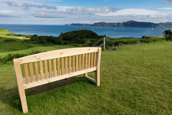 Glengorm Castle: Bench with a View of Forever