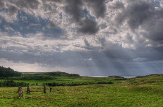 Glengorm Castle: Standing Stones
