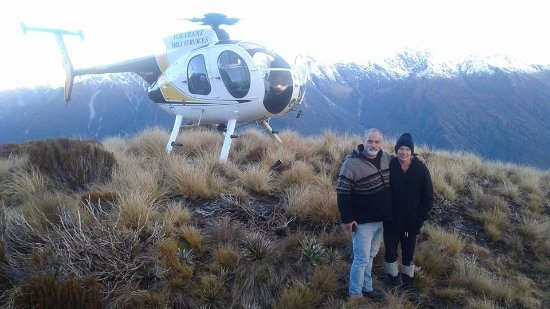 Whataroa, New Zealand: snow was too deep to land so found a solid spot