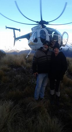 Whataroa, New Zealand: love the helipcopter blades in this one