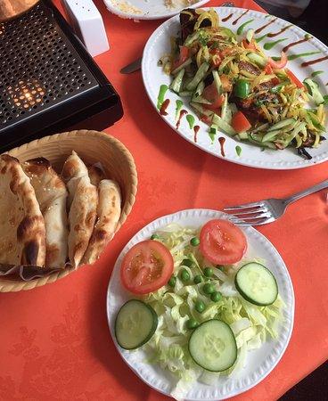 tandoori fish and some naan