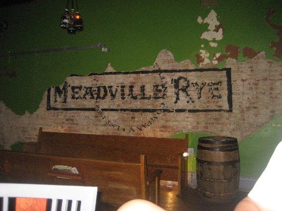 Meadville, PA: wall in bar area