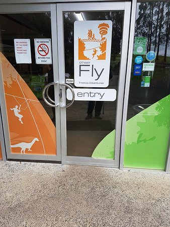 Otway Fly Treetop Adventures: The entry door