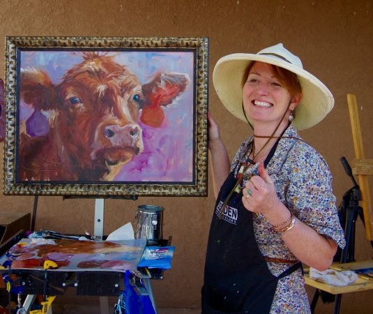 Wickenburg, AZ: Sonja Caywood finishes her Quick Draw at the 2017 Cowgirl Up!