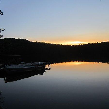 Piseco, NY: sunset at the lake