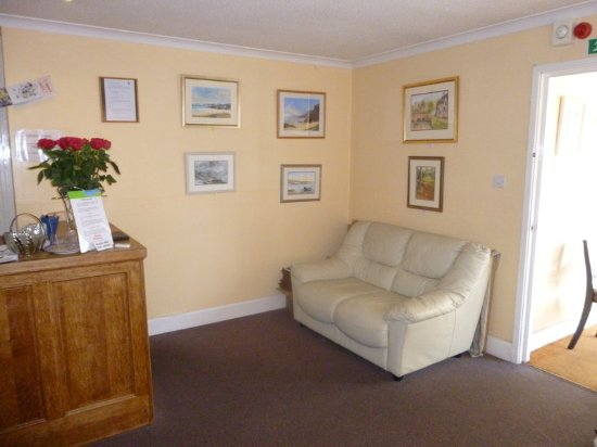 Lyme Bay House: Part of the Reception Area