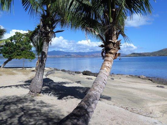 Rakiraki, Fiji: This is taken from the beach bar area, near where the dive boat departs.