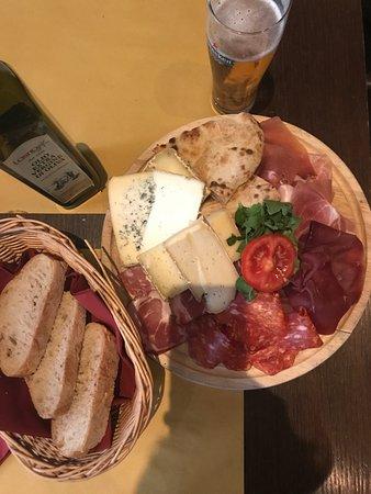 Salami and cheese mixed plate