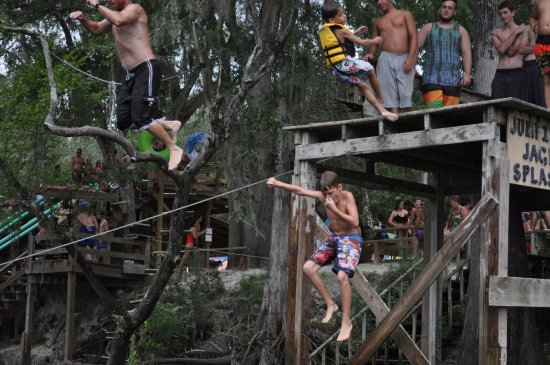 Branford, FL: Matthew jumped off doing a 360 degree turn.... lol