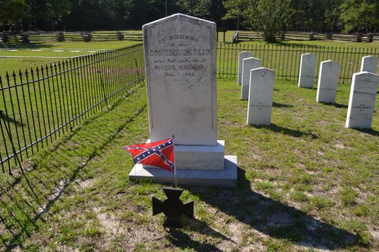 Ehrhardt, SC: monument among graves