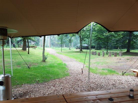 Wolfheze, Niederlande: Uitzicht vanaf de tuin