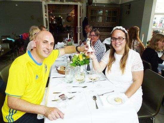 Bröllopsmiddag för Carolina Andersson från Lund och William Rios Moraes från Brasilien.