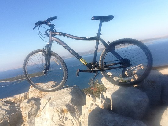 Preko, Croatia: Rented bike, photo taken at Straza peak, Pasman