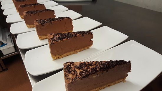 Wittersham, UK: Dark chocolate and Cointreau Cheesecake