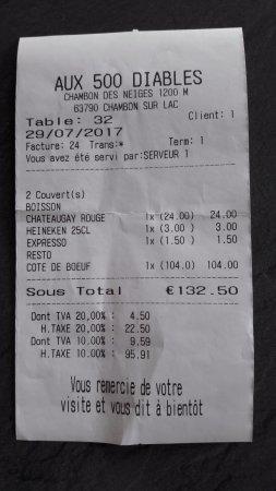 Ticket Restaurant Facture