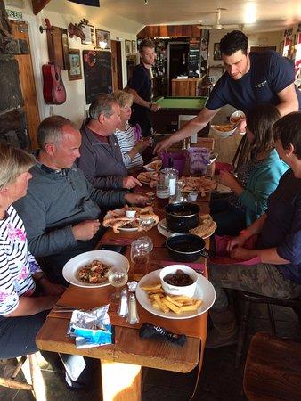 Knoydart Peninsula, UK: Dinner is served