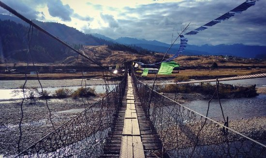 Along, India: one of the hanging bridges