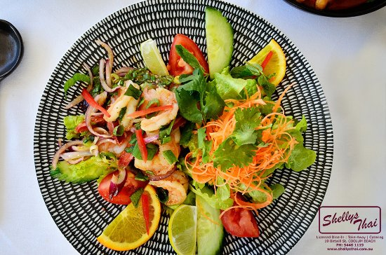 Coolum Beach, Australia: Prawn Salad