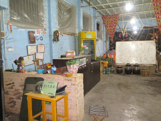 Turpan, China: The reception counter of White Camel GH