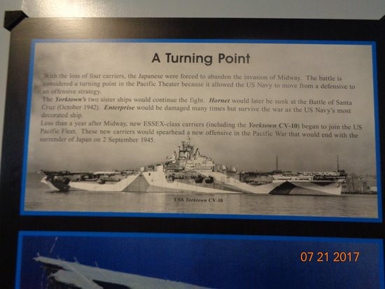 Mount Pleasant, SC: A sign telling us about the turning point int he war in the Pacific Ocean