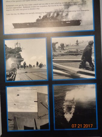 Mount Pleasant, SC: A sign telling about the USS Yorktown was damaged
