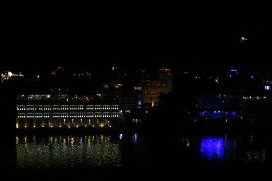 Vistas Desde La Terraza Al Lago De Noche Picture Of