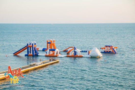 Семейный водный надувной аквапарк АкваХит