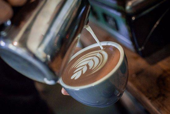 Ingleby Cross, UK: Freshly Roasted Rounton Coffee.