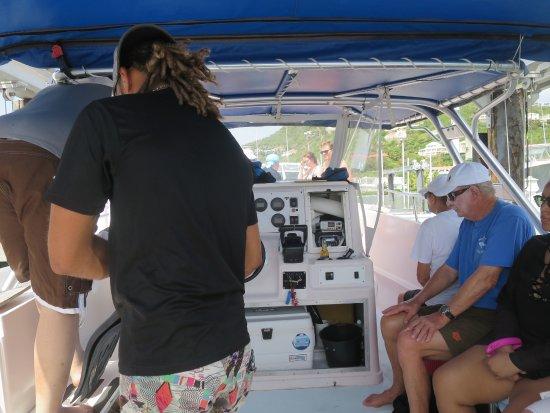 Oyster Pond, St-Martin/St Maarten: 船の上