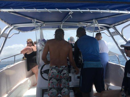 Oyster Pond, St. Martin/St. Maarten: 船の上